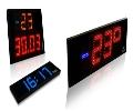 LED laikrodžiai ir termometrai