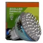 ECO-LED Lemputė 48 LED JCDR MR16 60° šalta 120lm