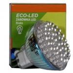 ECO-LED Lemputė 48 LED JCDR MR16 60° šilta 120lm