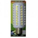 ECO-LED lemputė 72 LED Super Flux E27 360° šilta 800lm