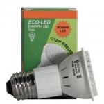 ECO-LED Lemputė 60 POWER LED JDR E27 120° šalta 240lm