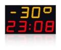 LED laikrodis + termometras